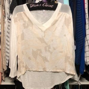Calvin Kline High Low Blouse